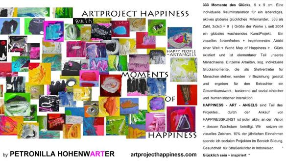 ArtProject Happiness by Petronilla Hohenwarter 2015